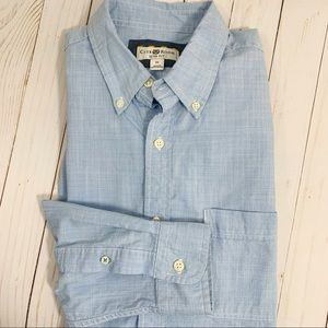 Club Room Sim Fit Button Down Shirt Sz M